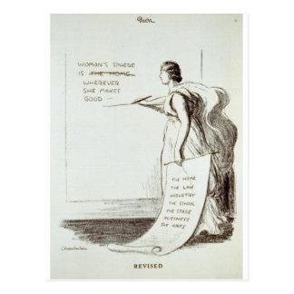 La esfera de las mujeres revisada postal