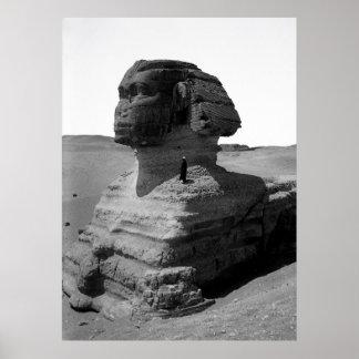LA ESFINGE EGIPCIA 1900 PÓSTER