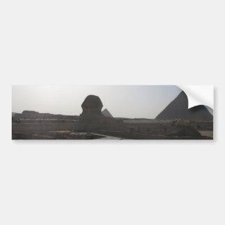 La esfinge, las pirámides de Giza Pegatina Para Auto