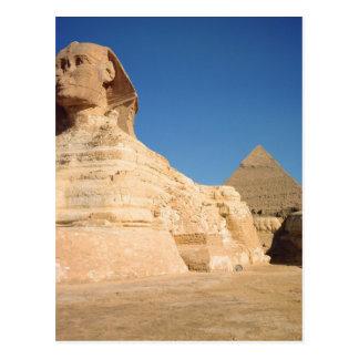 La esfinge y la pirámide de Khafre, Giza Postales