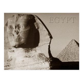 La esfinge y la pirámide de Menkaure, Egipto Tarjetas Postales