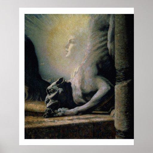 La esfinge y la quimera, 1906 (aceite en lona) impresiones
