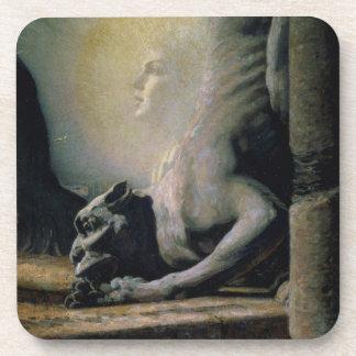 La esfinge y la quimera, 1906 (aceite en lona) posavasos