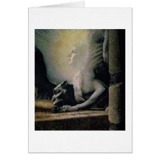 La esfinge y la quimera, 1906 (aceite en lona) tarjetas
