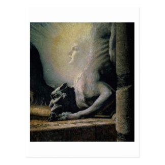 La esfinge y la quimera, 1906 (aceite en lona) tarjetas postales
