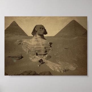 La esfinge y las pirámides en Egipto circa 1867 Impresiones