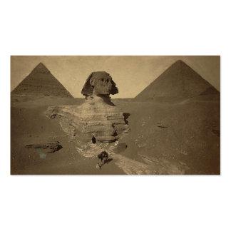 La esfinge y las pirámides en Egipto circa 1867 Tarjetas De Visita