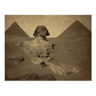 La esfinge y las pirámides en Egipto circa 1867 Tarjeta Postal