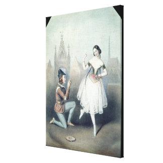La Esmeralda': Carlotta Grisi  & Jules Perrot Stretched Canvas Prints