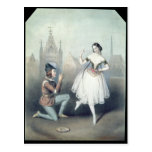 La Esmeralda': Carlotta Grisi  & Jules Perrot Postcard