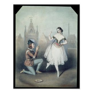 La Esmeralda': Carlotta Grisi  & Jules Perrot Poster