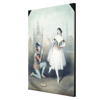 La Esmeralda': Carlotta Grisi y Julio Perrot Impresiones En Lona Estiradas