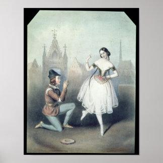 La Esmeralda': Carlotta Grisi y Julio Perrot Póster