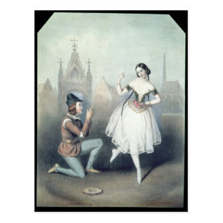 La Esmeralda': Carlotta Grisi y Julio Perrot Postal
