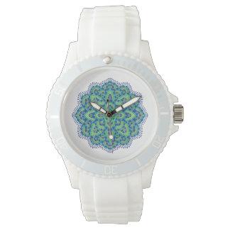 La esmeralda Mandala-Fresca Relojes De Pulsera