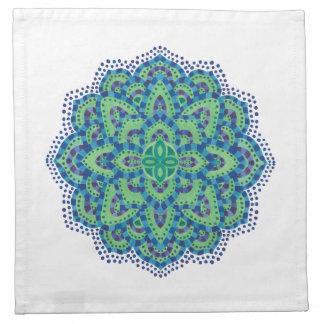 La esmeralda Mandala-Fresca Servilletas