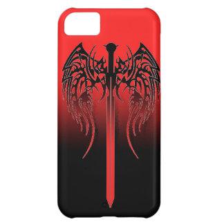 La espada con las alas refresca el diseño tribal T Carcasa Para iPhone 5C