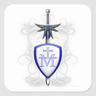 La espada de San Miguel Pegatina Cuadrada