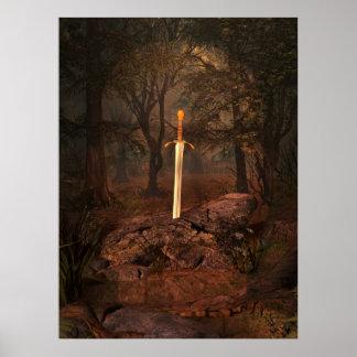 La espada en la piedra posters