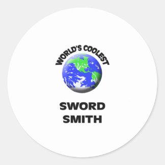 La espada más fresca Smith del mundo Pegatina
