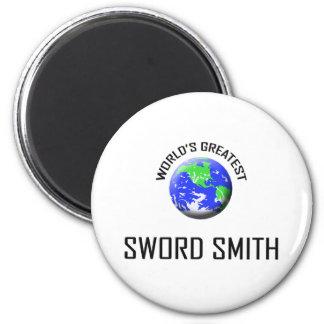 La espada más grande Smith del mundo Imanes De Nevera
