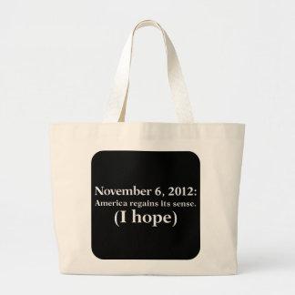 La esperanza 2012 del día de elección I América de Bolsas De Mano