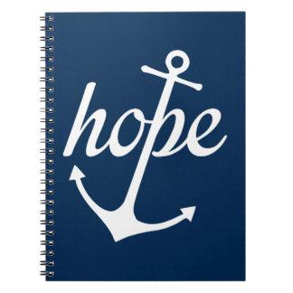 La esperanza ancla el alma (el 6:19 de los notebook