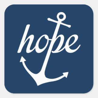 La esperanza ancla el alma (el 6:19 de los pegatina cuadrada