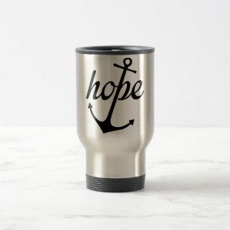 La esperanza ancla el alma (el 6:19 de los taza térmica
