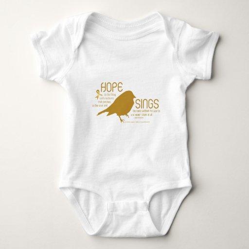 La esperanza canta el oro body para bebé