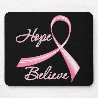 La esperanza cree al cáncer de pecho de la cinta d alfombrilla de ratones