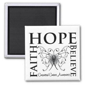 La esperanza cree la fe - cáncer carcinoide imán cuadrado