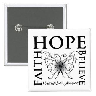 La esperanza cree la fe - cáncer carcinoide pin cuadrado