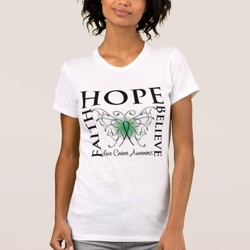 La esperanza cree la fe - cáncer de hígado camiseta