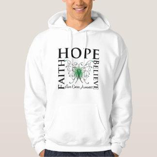 La esperanza cree la fe - cáncer de hígado sudaderas con capucha