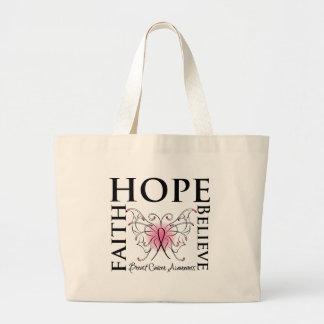 La esperanza cree la fe - cáncer de pecho bolsas de mano