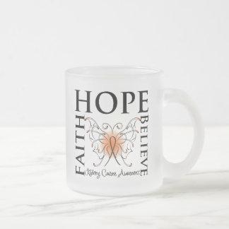 La esperanza cree la fe - cáncer del riñón (el taza cristal mate