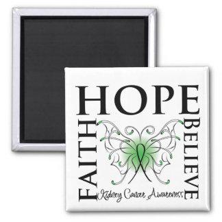 La esperanza cree la fe - cáncer del riñón (el ver imán cuadrado