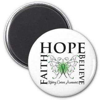 La esperanza cree la fe - cáncer del riñón (el ver imán redondo 5 cm