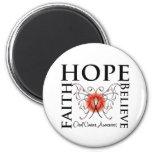 La esperanza cree la fe - cáncer oral imán de frigorífico