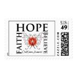 La esperanza cree la fe - cáncer oral sellos