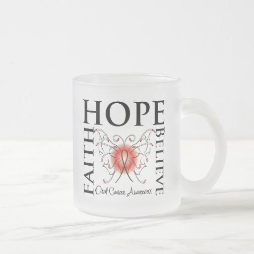 La esperanza cree la fe - cáncer oral tazas de café