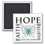 La esperanza cree la fe - cáncer ovárico imán para frigorifico