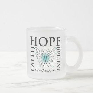 La esperanza cree la fe - cáncer ovárico taza de café