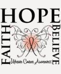 La esperanza cree la fe - cáncer uterino camiseta