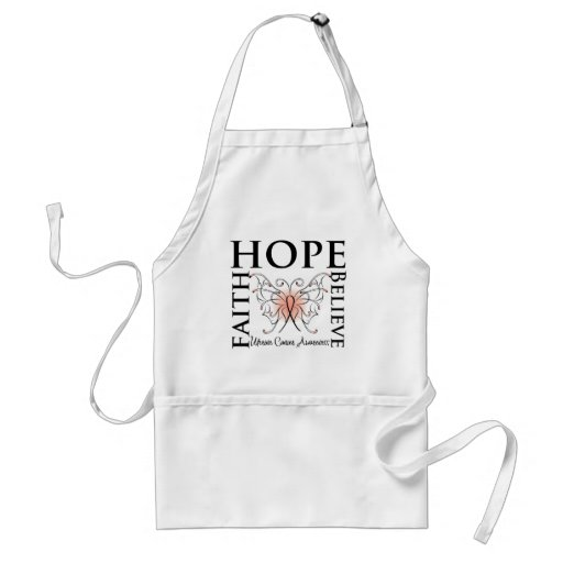 La esperanza cree la fe - cáncer uterino delantal