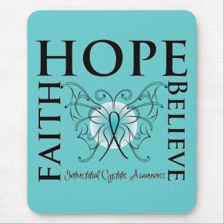 La esperanza cree la fe - cistitis intersticial alfombrilla de ratón