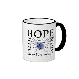 La esperanza cree la fe - enfermedad del ALS Lou G Taza