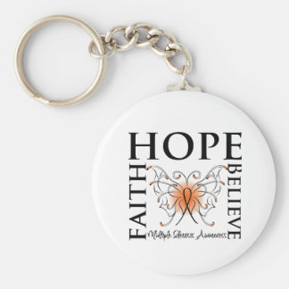 La esperanza cree la fe - esclerosis múltiple llavero redondo tipo pin