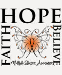 La esperanza cree la fe - esclerosis múltiple camiseta